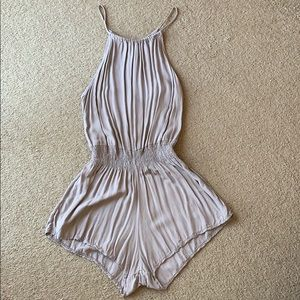 Brandy Melville Romper Viscose Cotton blend mauve